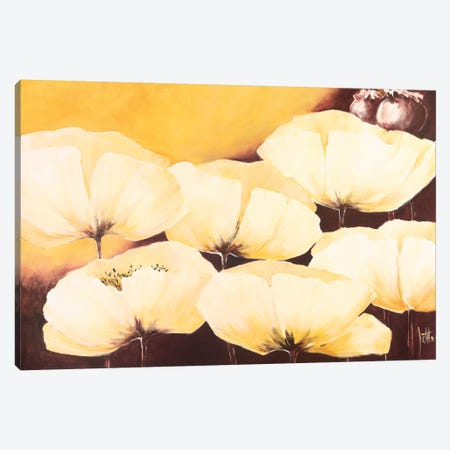 Yellow Poppies II Canvas Print #JET39} by Jettie Roseboom Art Print