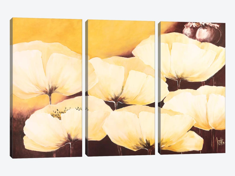 Yellow Poppies II by Jettie Roseboom 3-piece Art Print