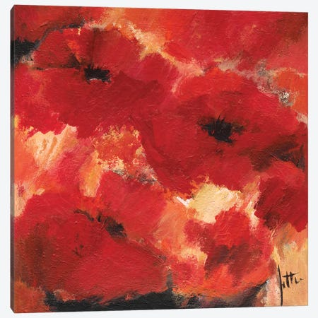 Abstract Flowers I Canvas Print #JET5} by Jettie Roseboom Canvas Art