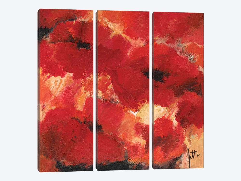 Abstract Flowers I by Jettie Roseboom 3-piece Canvas Print