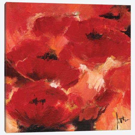 Abstract Flowers II Canvas Print #JET6} by Jettie Roseboom Canvas Wall Art