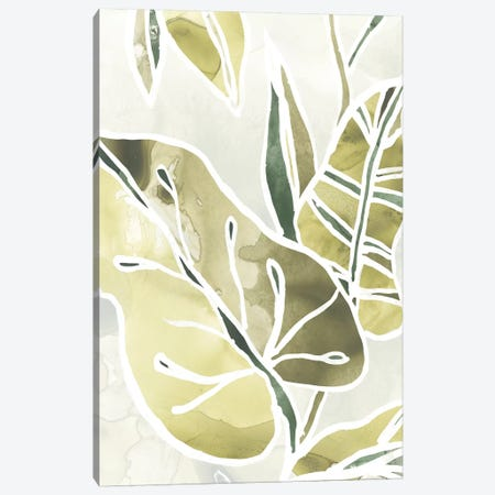 Batik Leaves I 3-Piece Canvas #JEV1003} by June Erica Vess Canvas Print
