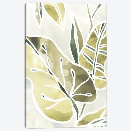 Batik Leaves I Canvas Print #JEV1003} by June Erica Vess Canvas Print