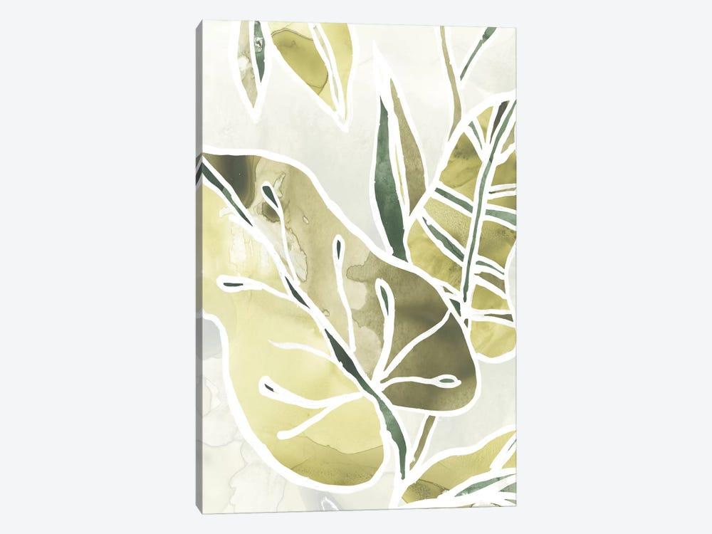 Batik Leaves I by June Erica Vess 1-piece Canvas Artwork