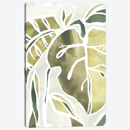 Batik Leaves II Canvas Print #JEV1004} by June Erica Vess Canvas Wall Art