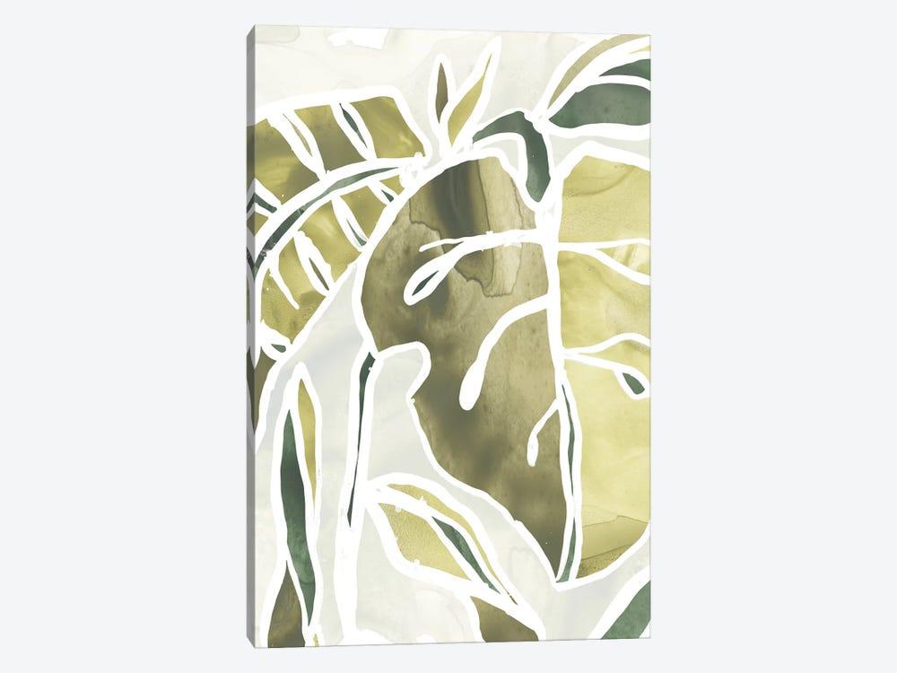 Batik Leaves II by June Erica Vess 1-piece Canvas Art Print