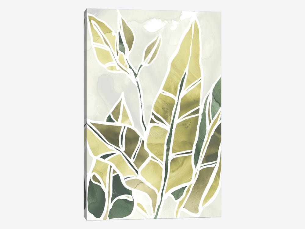 Batik Leaves III by June Erica Vess 1-piece Canvas Artwork