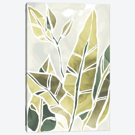 Batik Leaves III Canvas Print #JEV1005} by June Erica Vess Canvas Wall Art