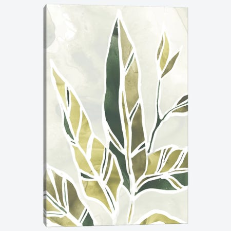 Batik Leaves IV Canvas Print #JEV1006} by June Erica Vess Canvas Artwork