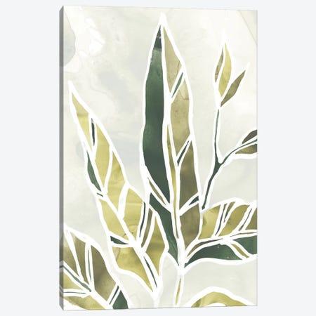 Batik Leaves IV Canvas Print #JEV1006} by June Erica Vess Canvas Artwork