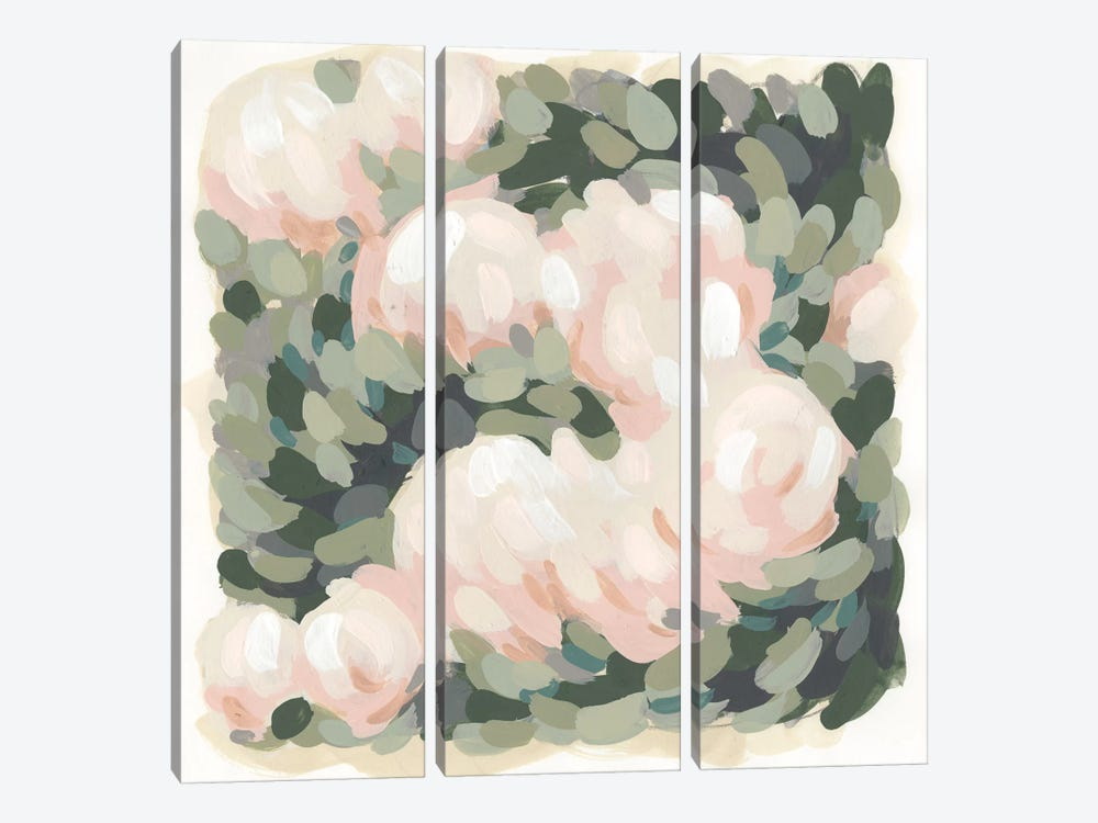 Blush & Celadon I by June Erica Vess 3-piece Canvas Print