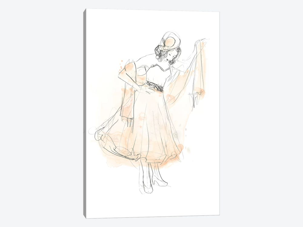 Blush & Grey Fashion I by June Erica Vess 1-piece Canvas Art Print