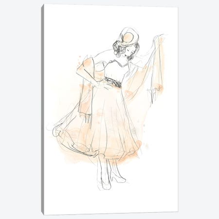 Blush & Grey Fashion I Canvas Print #JEV1015} by June Erica Vess Canvas Art Print