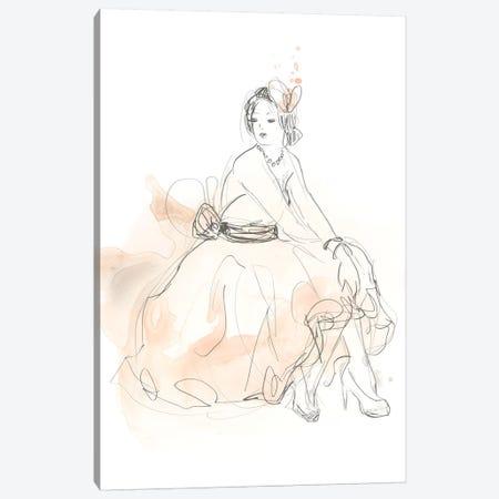 Blush & Grey Fashion II Canvas Print #JEV1016} by June Erica Vess Art Print