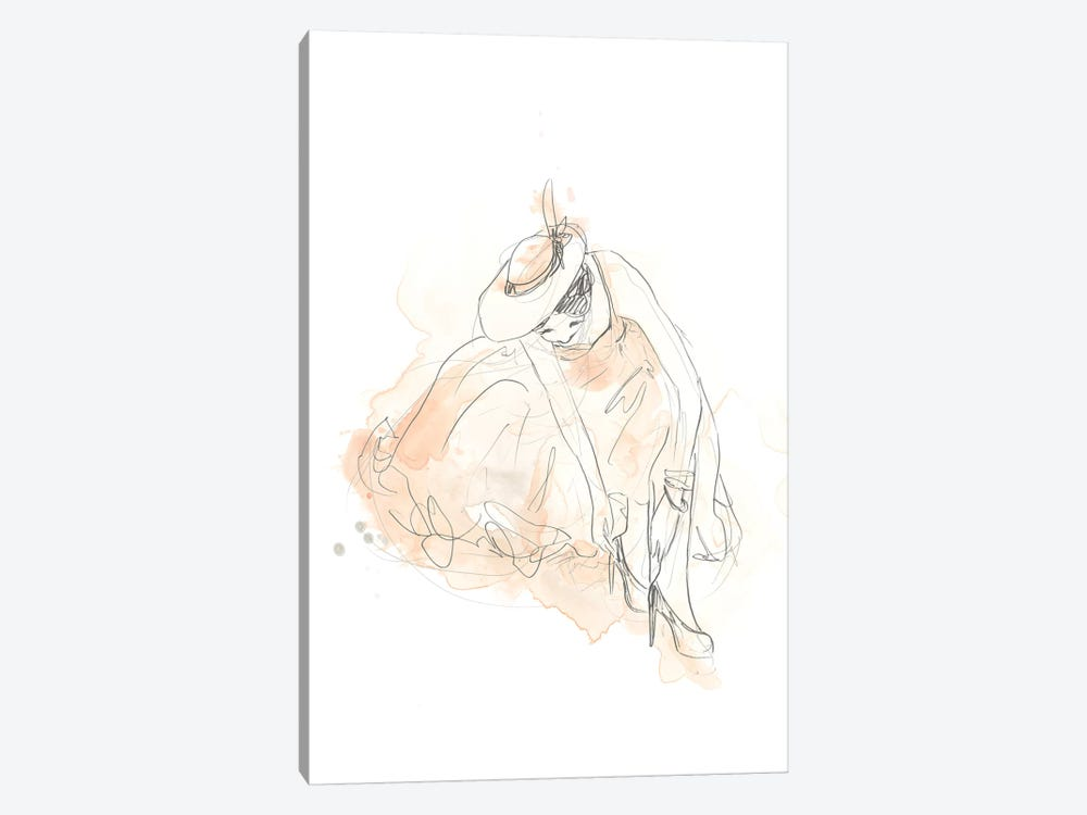 Blush & Grey Fashion III by June Erica Vess 1-piece Art Print