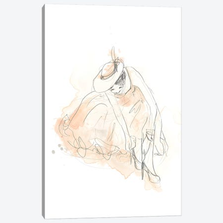 Blush & Grey Fashion III Canvas Print #JEV1017} by June Erica Vess Canvas Art Print