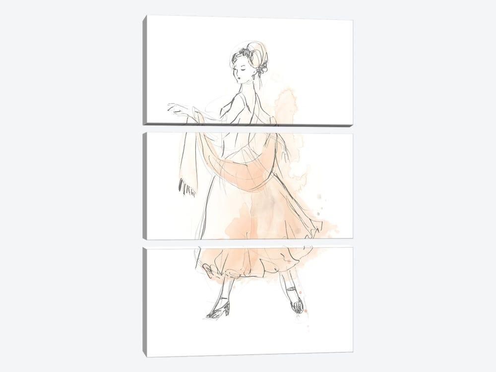 Blush & Grey Fashion IV by June Erica Vess 3-piece Canvas Wall Art
