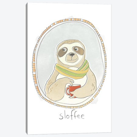 Caffeinated Cutie III Canvas Print #JEV1021} by June Erica Vess Canvas Art Print