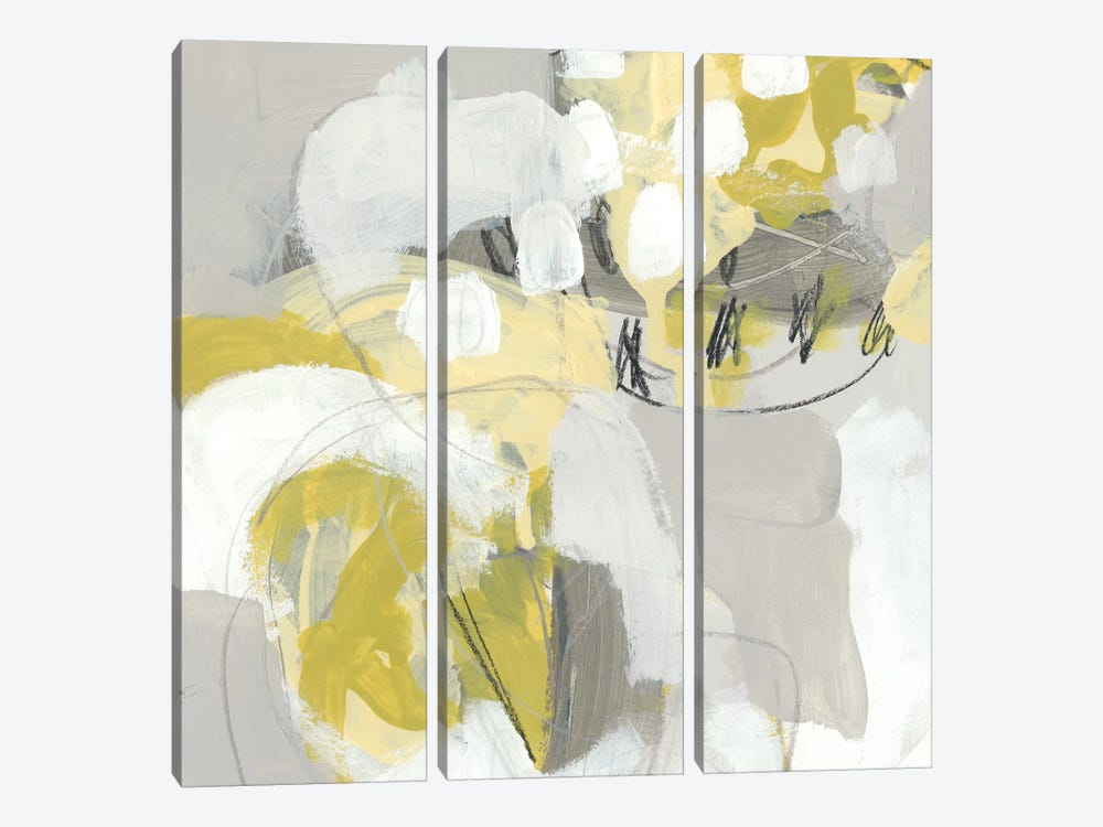 Citron Mist III by June Erica Vess 3-piece Canvas Artwork