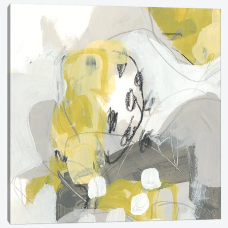 Citron Mist IV 3-Piece Canvas #JEV1030} by June Erica Vess Canvas Wall Art
