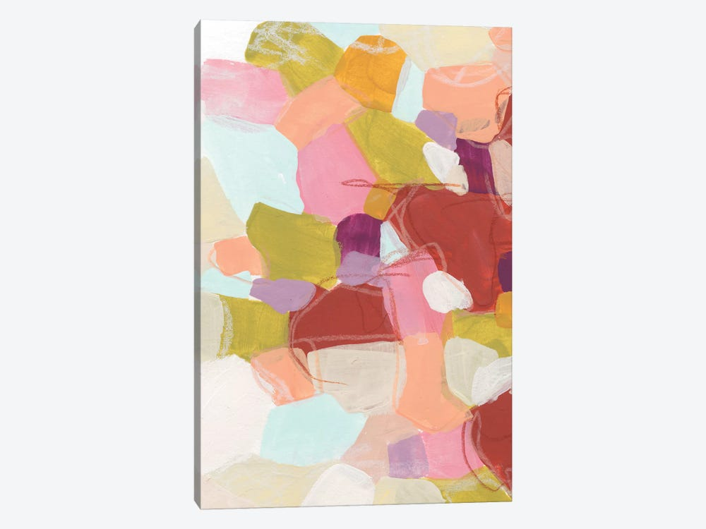 Color Cartography II by June Erica Vess 1-piece Canvas Art