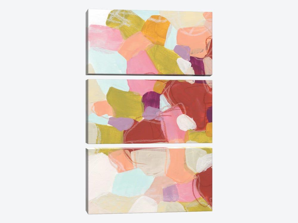 Color Cartography II by June Erica Vess 3-piece Canvas Art