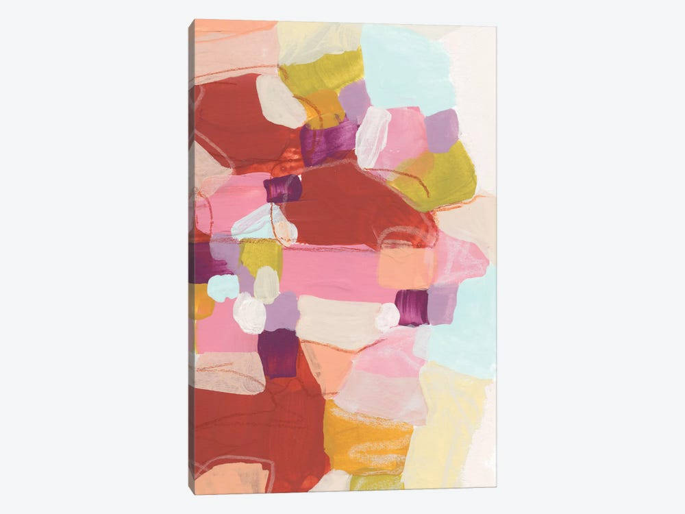 Color Cartography III by June Erica Vess 1-piece Canvas Print