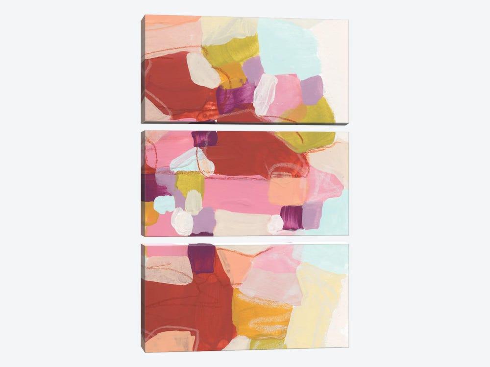 Color Cartography III by June Erica Vess 3-piece Canvas Art Print