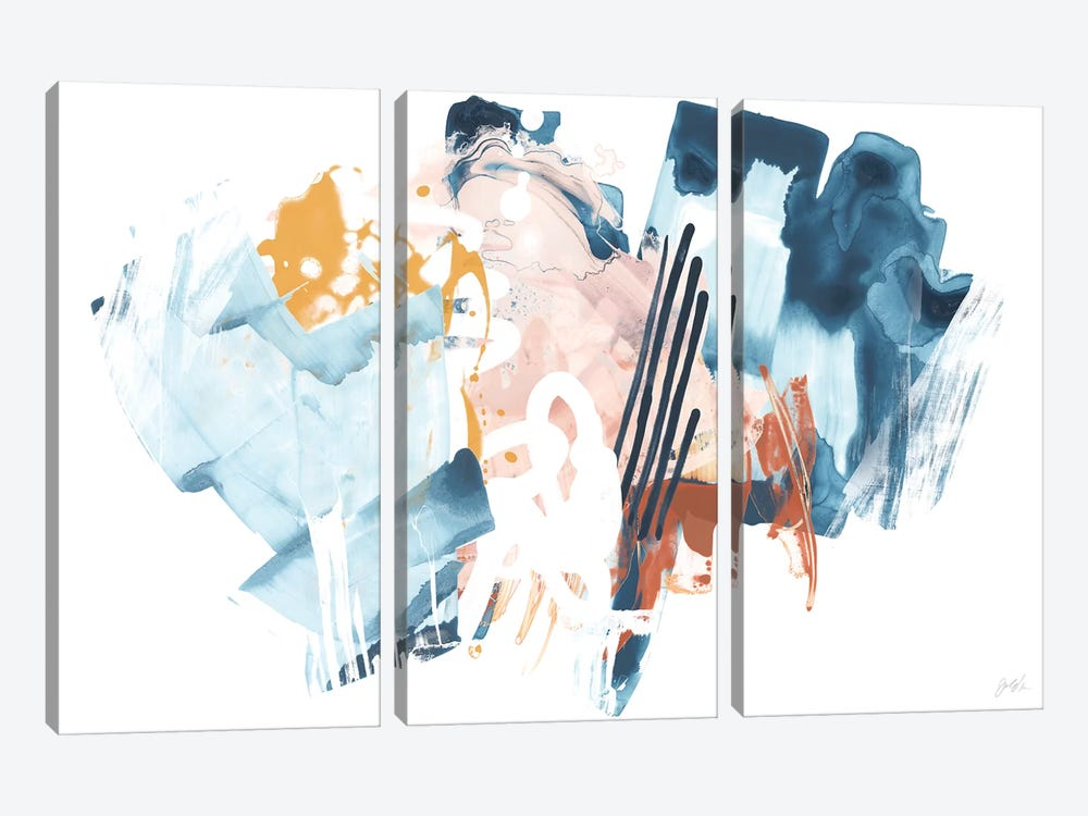 Composite Signal I by June Erica Vess 3-piece Canvas Wall Art