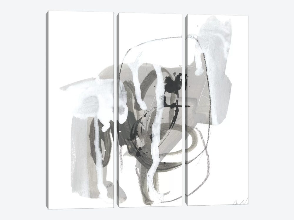 Gray Scale I by June Erica Vess 3-piece Canvas Art