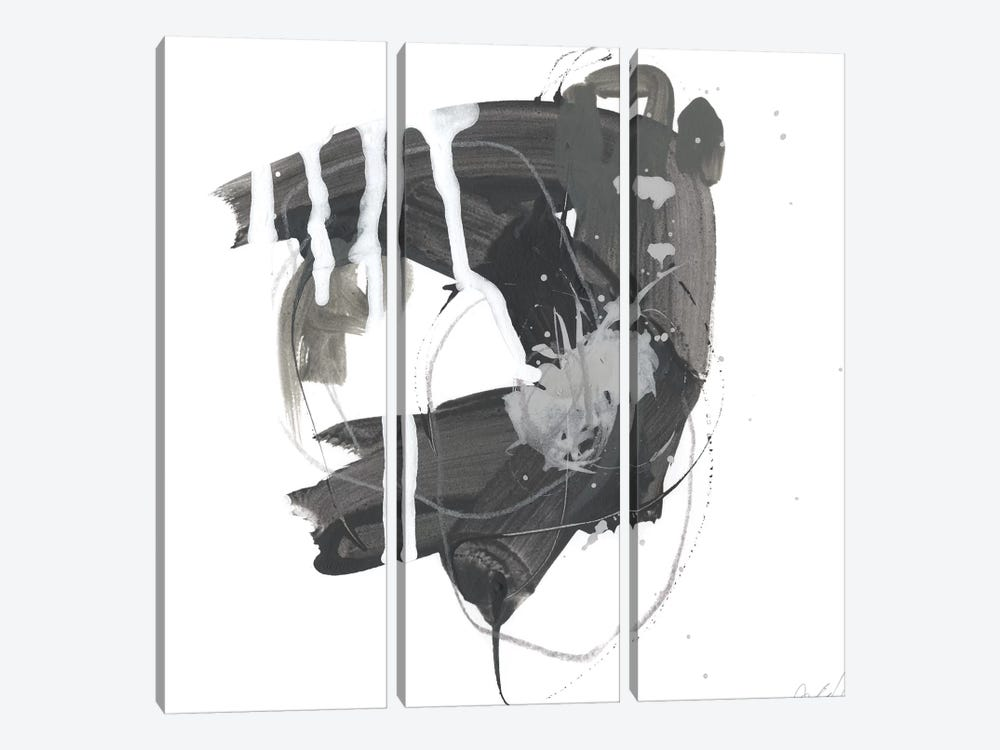 Gray Scale II by June Erica Vess 3-piece Canvas Print