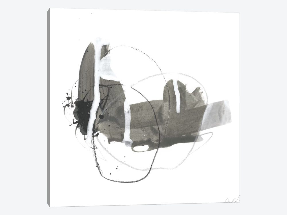 Gray Scale III by June Erica Vess 1-piece Canvas Artwork
