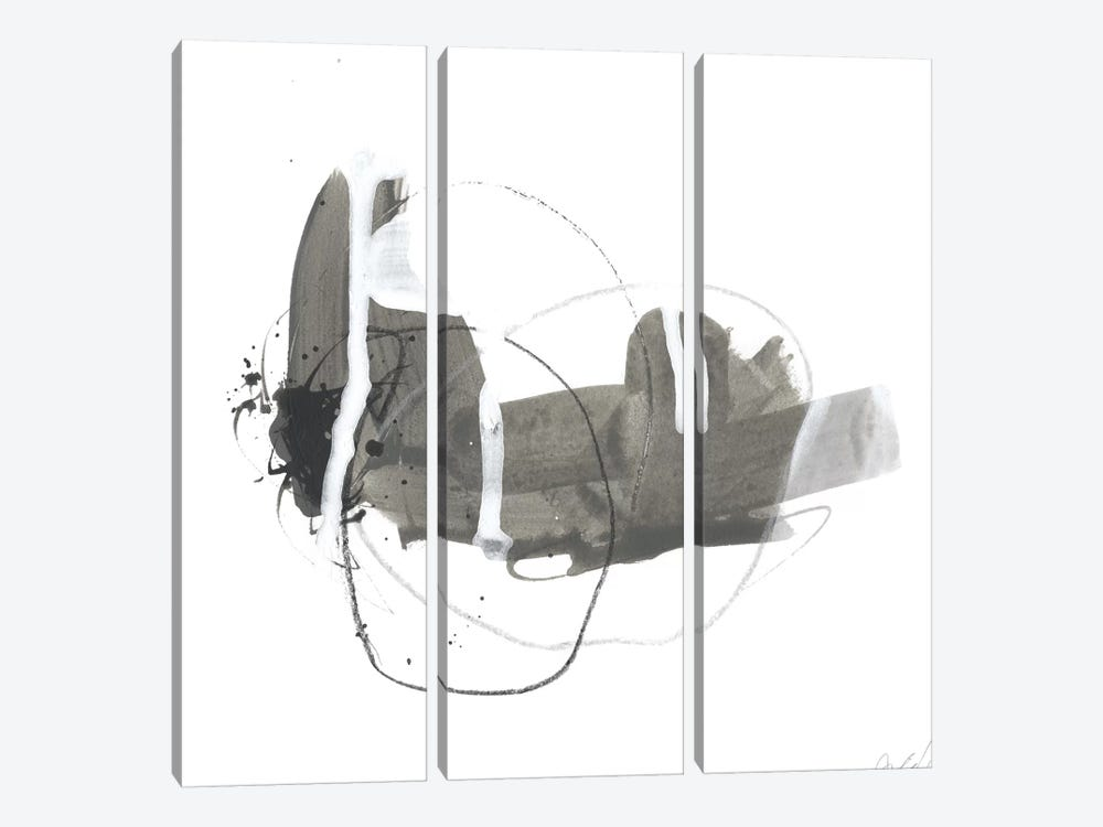 Gray Scale III by June Erica Vess 3-piece Canvas Art