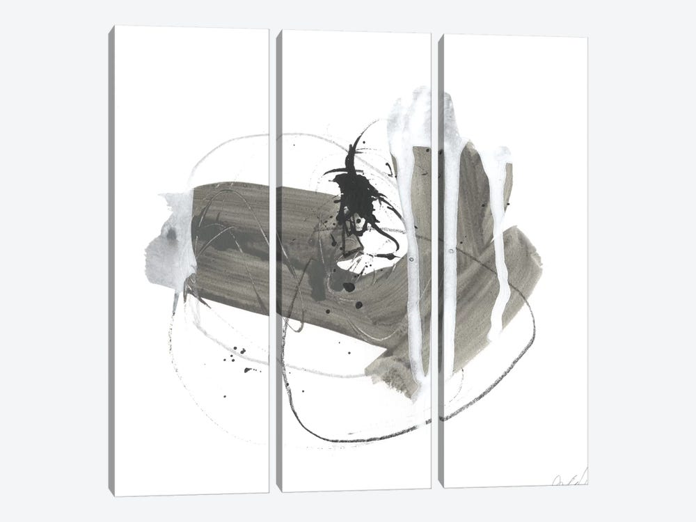 Gray Scale IV by June Erica Vess 3-piece Canvas Artwork