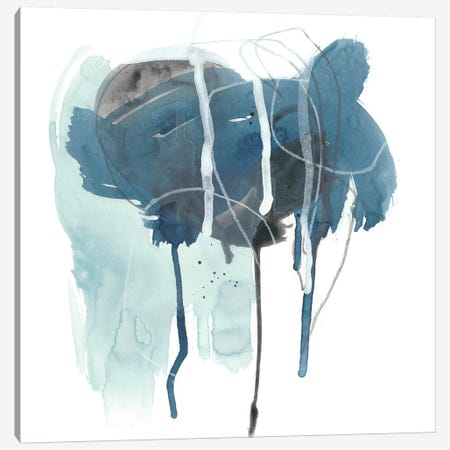 Incidental Indigo II Canvas Print #JEV1078} by June Erica Vess Canvas Wall Art
