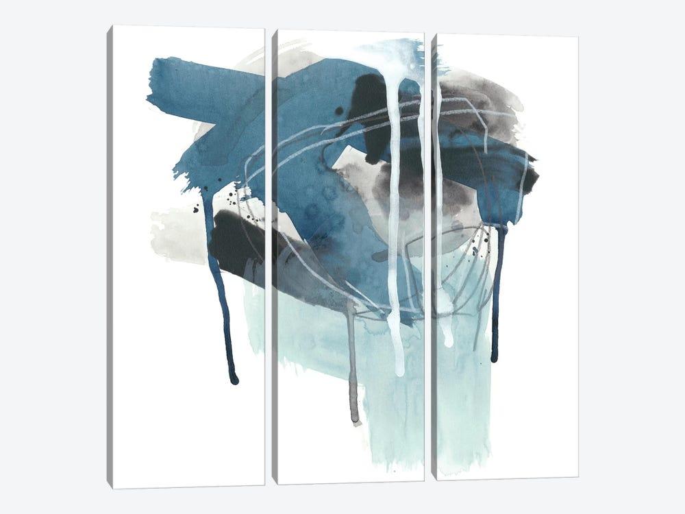 Incidental Indigo III by June Erica Vess 3-piece Canvas Art Print