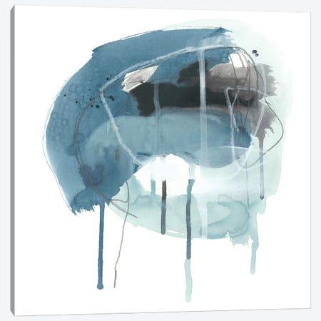 Incidental Indigo IV 3-Piece Canvas #JEV1080} by June Erica Vess Canvas Print