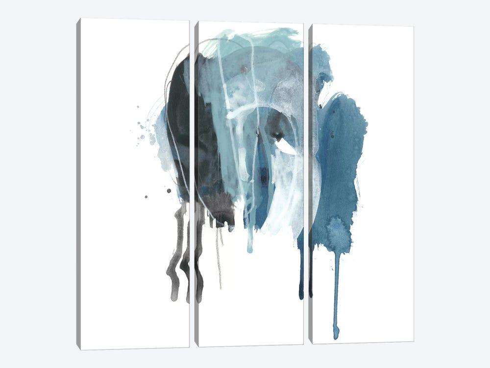 Incidental Indigo V by June Erica Vess 3-piece Canvas Artwork