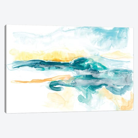 Liquid Lakebed I Canvas Print #JEV1093} by June Erica Vess Canvas Art