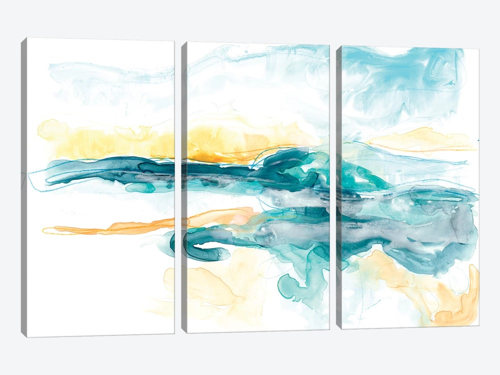 Liquid Lakebed I by June Erica Vess 3-piece Canvas Print
