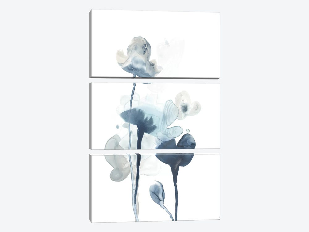Midnight Blossoms IV by June Erica Vess 3-piece Canvas Art