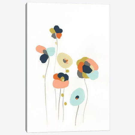 Modular Bouquet II Canvas Print #JEV1106} by June Erica Vess Canvas Print