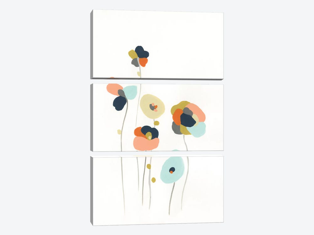 Modular Bouquet II 3-piece Canvas Wall Art