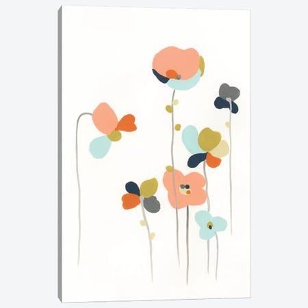 Modular Bouquet IV Canvas Print #JEV1108} by June Erica Vess Canvas Artwork