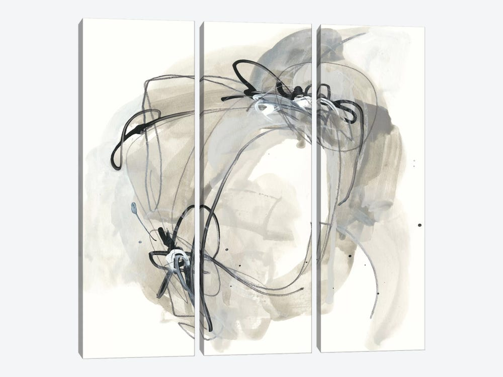 Monochrome Diaspora III by June Erica Vess 3-piece Canvas Art