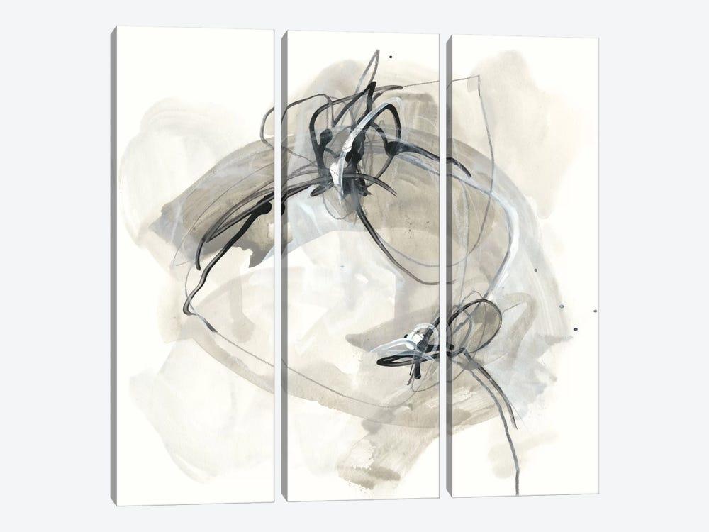 Monochrome Diaspora IV by June Erica Vess 3-piece Canvas Print