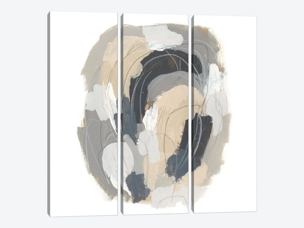Neutral Vortex III by June Erica Vess 3-piece Canvas Wall Art