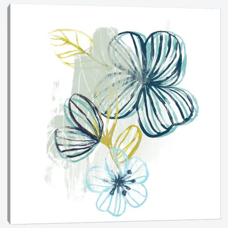Floral Offset I Canvas Print #JEV111} by June Erica Vess Canvas Wall Art