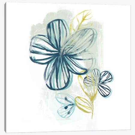 Floral Offset II Canvas Print #JEV112} by June Erica Vess Canvas Wall Art