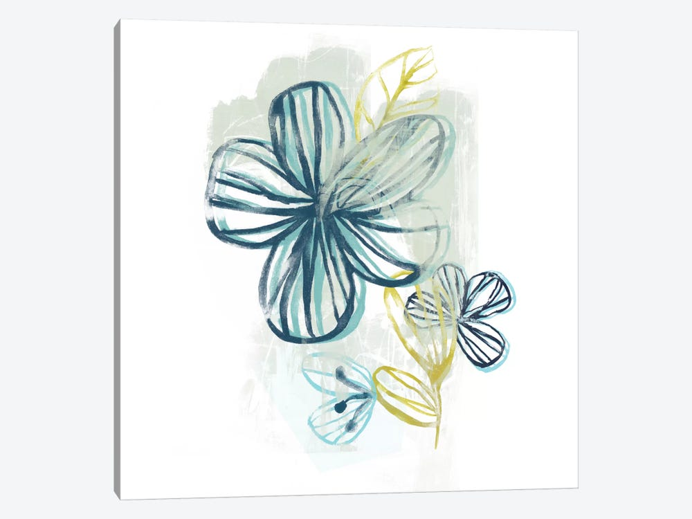 Floral Offset II by June Erica Vess 1-piece Canvas Art